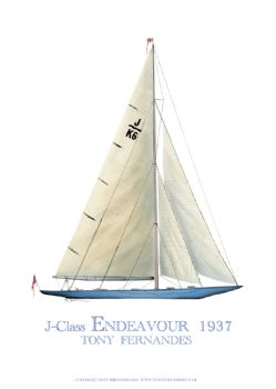 1937 Endeavour - signed print